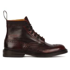 Trickers Stow Boot Dainite Sole Sign Kudu (Burgundy)