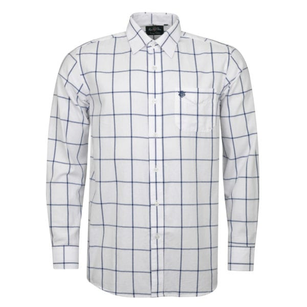 Alan Paine Ilkley Check Shirt Blue Check
