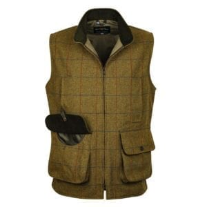 Alan Paine Rutland Tweed Waistcoat Basil