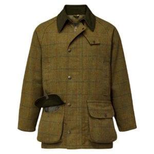 Alan Paine Rutland Tweed Waterproof Shooting Jacket Basil