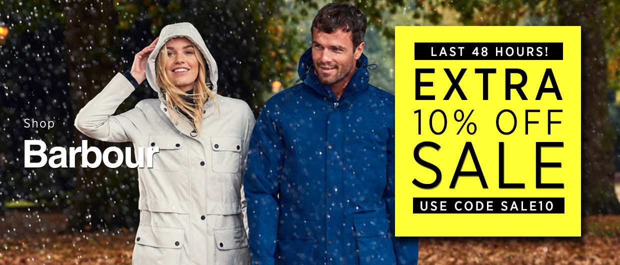 EXTRA 10% OFF Barbour Mid Season Sale at The Sporting Lodge