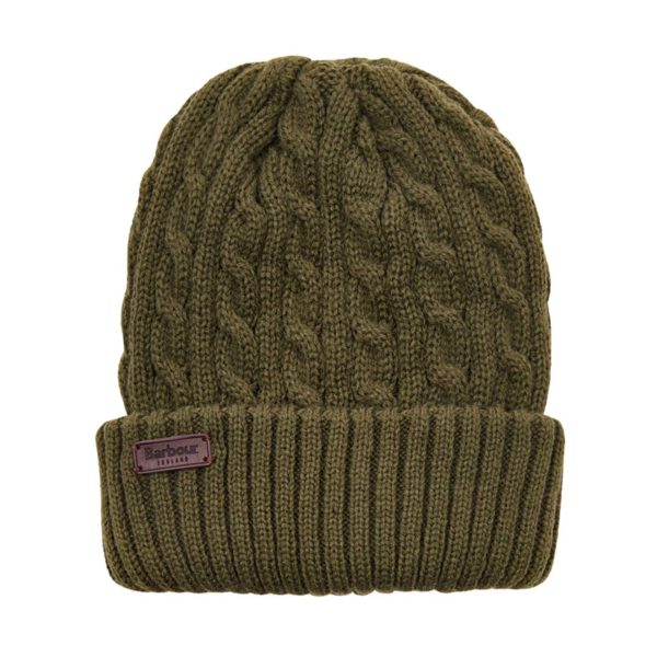 Barbour Balfron Knit Beanie Hat Olive