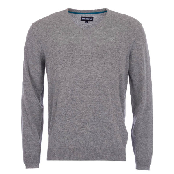 Barbour Essential Lambswool V-Neck Knit Grey Marl