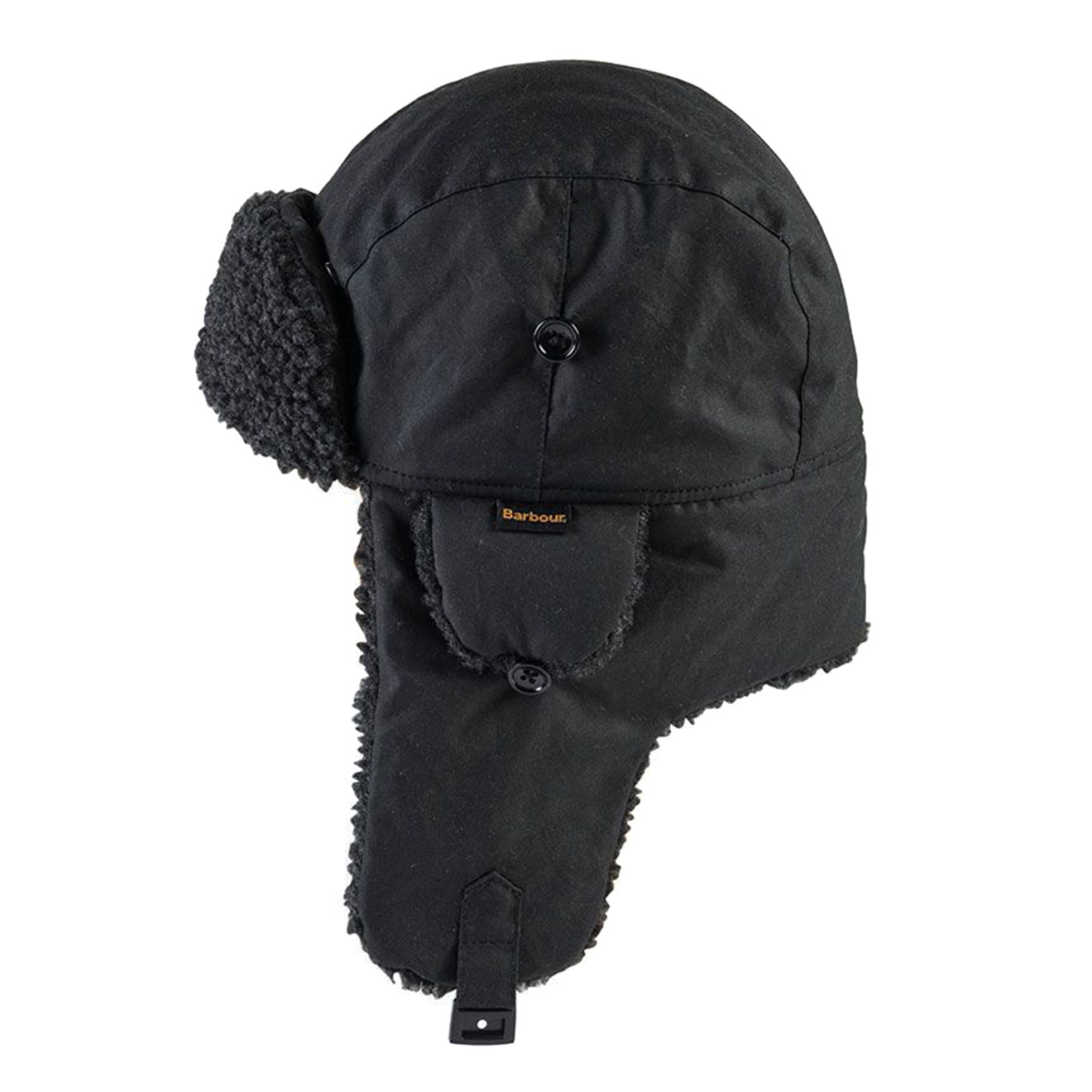 58d4222a64d Barbour Fleece Lined Trapper Hat Black - The Sporting Lodge