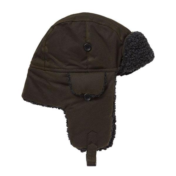 Barbour Fleece Lined Trapper Hat Olive