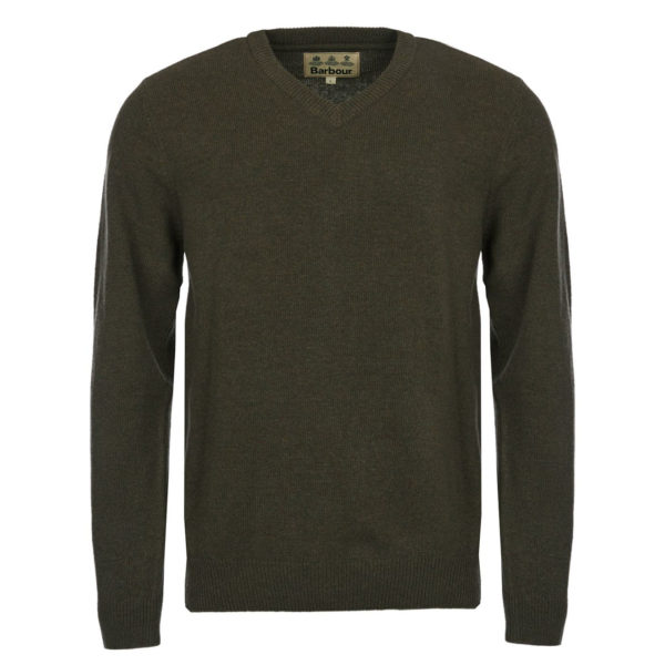 Barbour Nelson Essential V-Neck Knit Seaweed