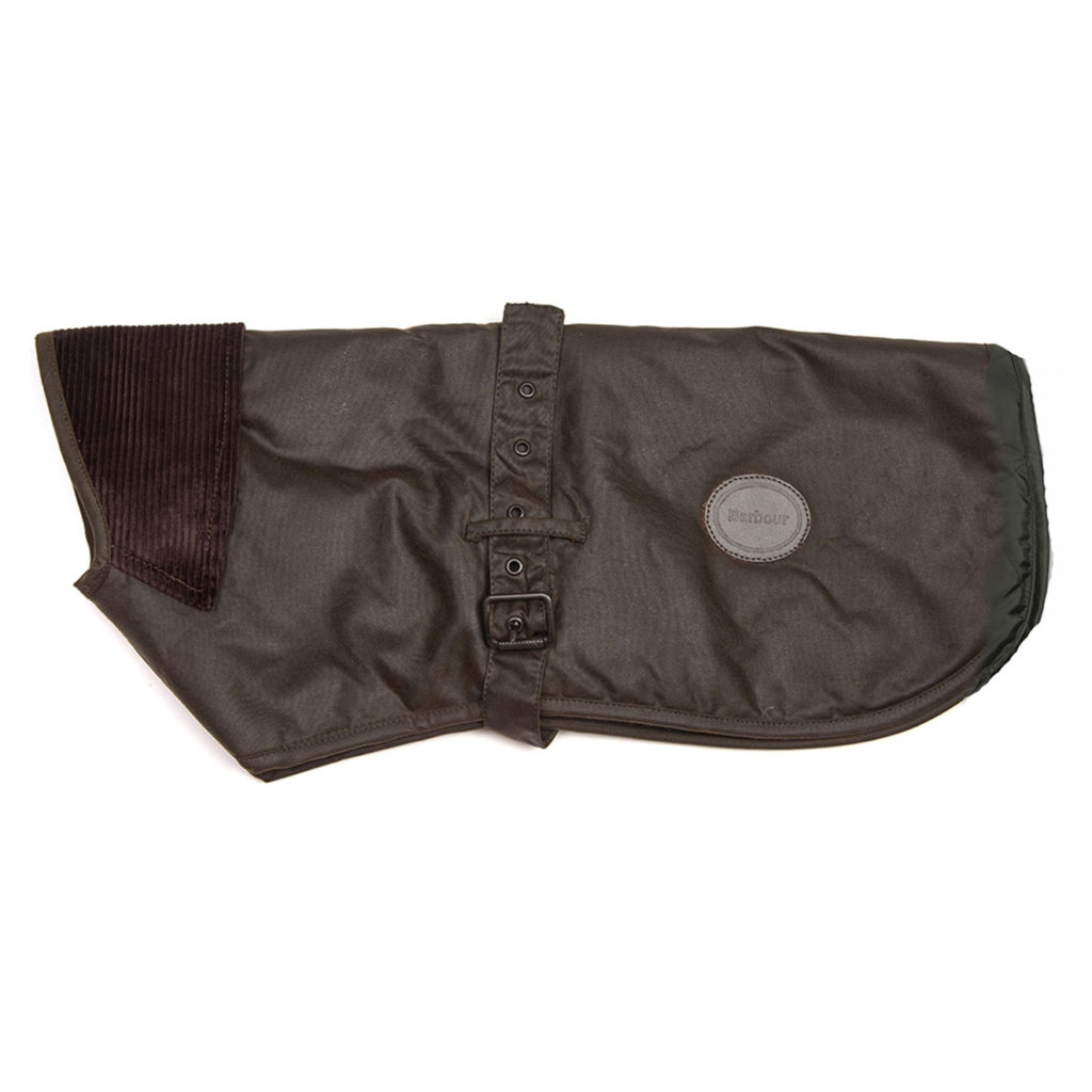 Barbour New Wax Dog Coat Olive