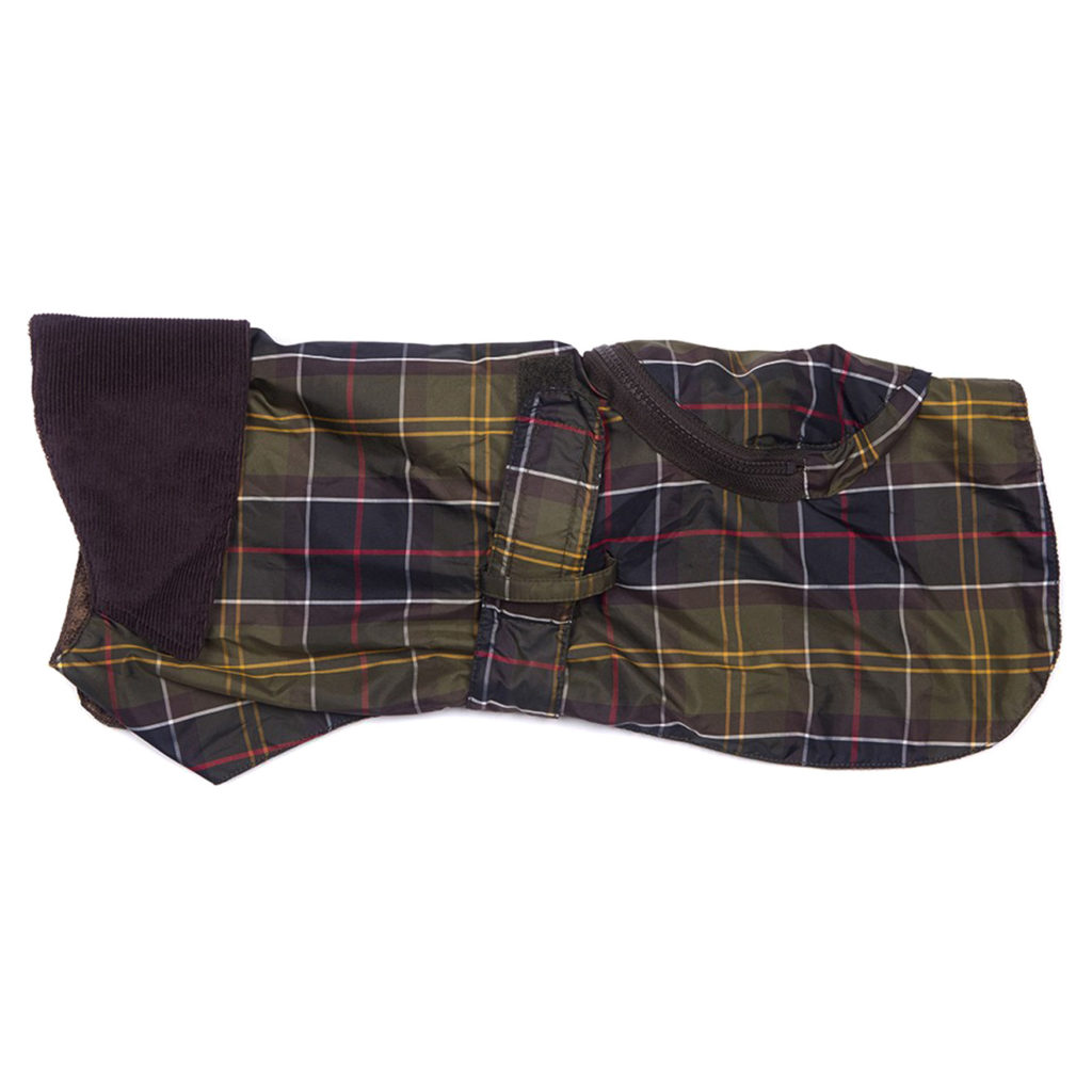 Barbour Pack Away Dog Coat Classic Tartan
