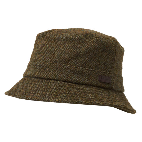Barbour Romeldale Sports Hat Olive Herringbone