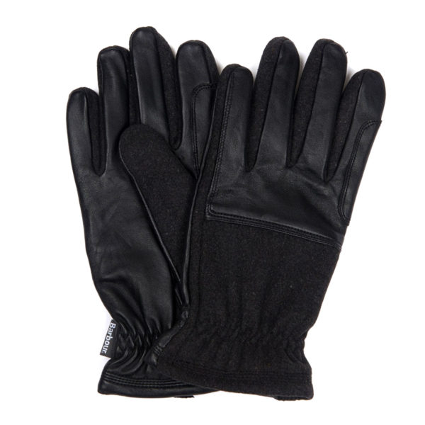 Barbour Rugged Melton Gloves Charcoal