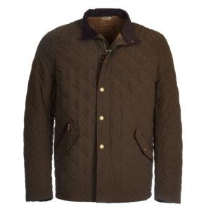 Barbour Shoveler Quilt Jacket Dark Olive