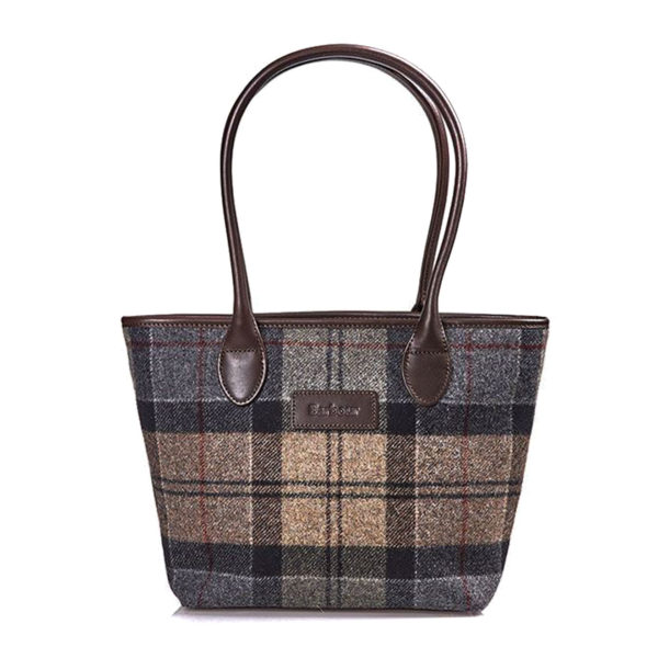 Barbour Womens Dee Tartan Handbag Winter Tartan
