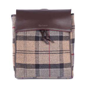 Barbour Womens Milport Backpack Winter Tartan