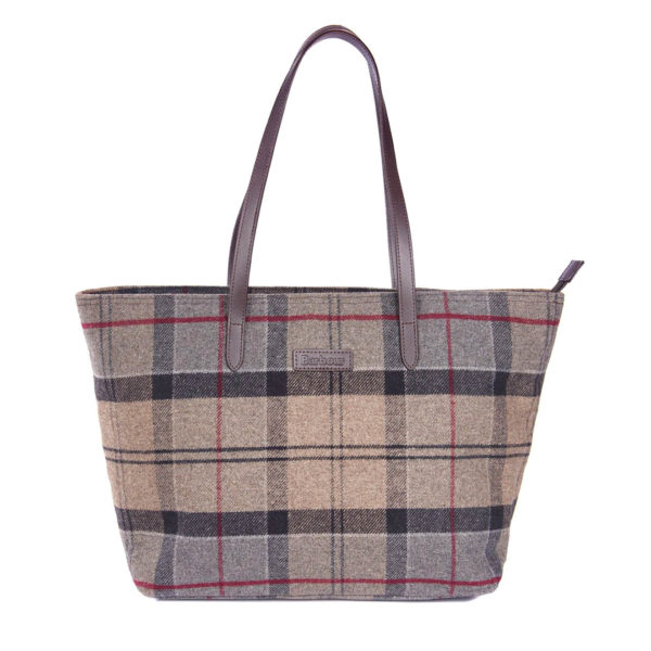 Barbour Womens Witford Tote Bag Winter Tartan