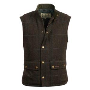 Barbour Wool Lowerdale Gilet Jacket Olive