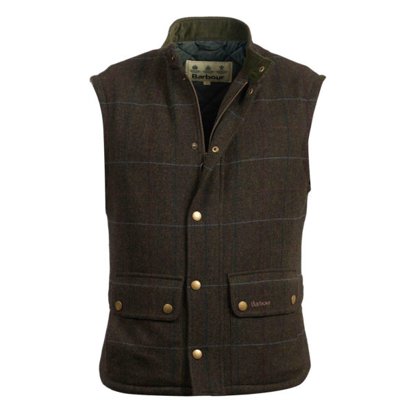 Barbour Wool Lowerdale Gilet Jacket Olive