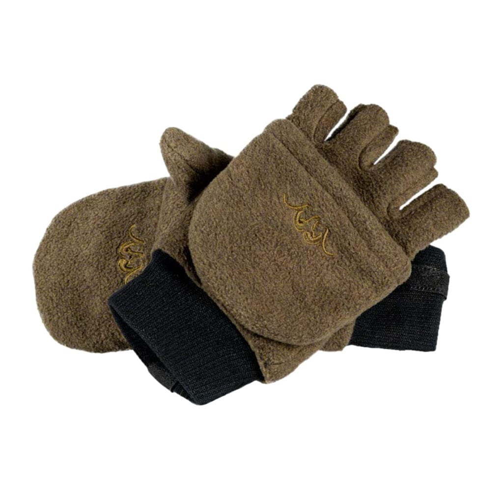 Blaser Fleece Mittens Brown Melange