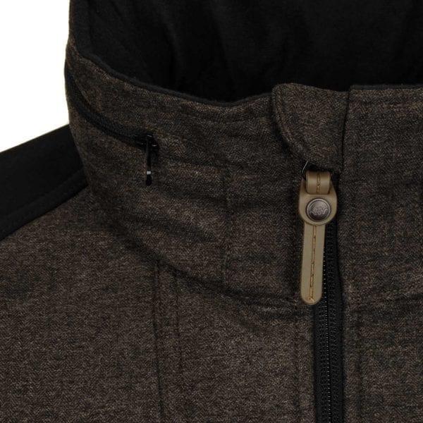 Blaser Vintage Softshell Jacket Brown Melange