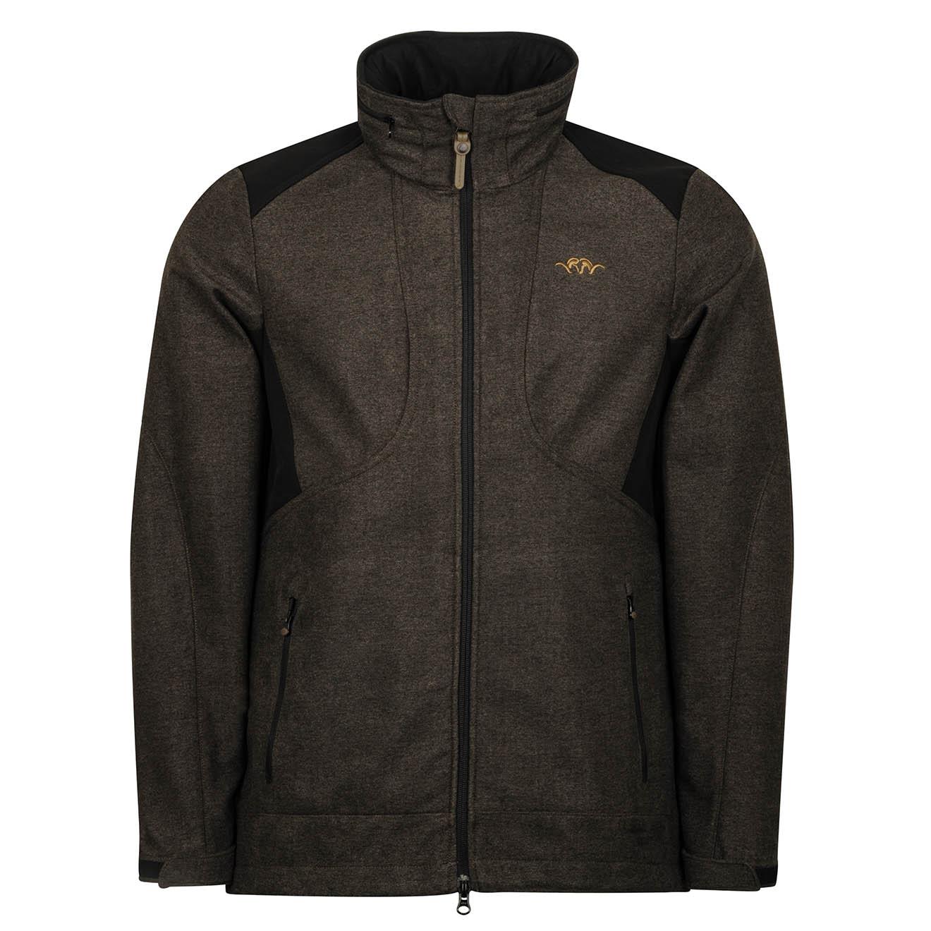 New Blaser Vintage Softshell Jacket Brown Melange