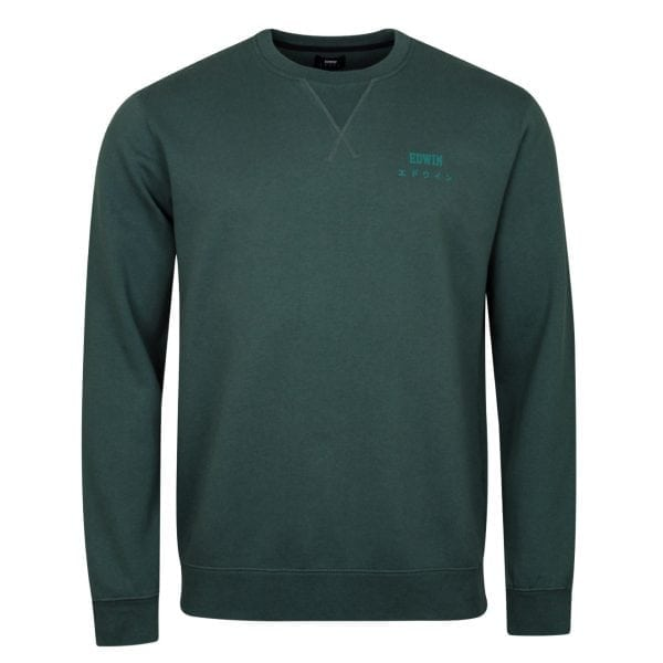 Edwin Base Crew Sweat Heavy Felpa Dark Slate