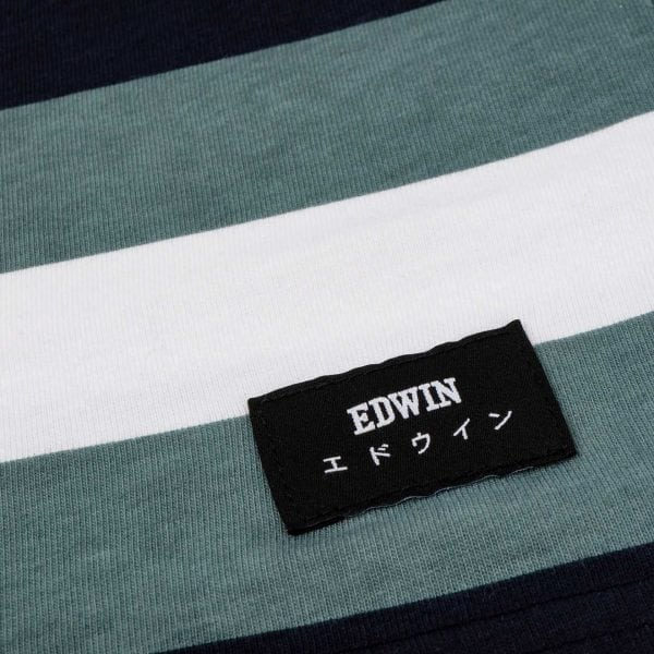 Edwin George T-Shirt Goblin Blue Garment Washed