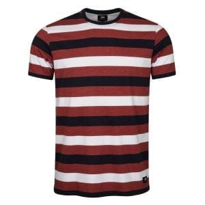 Edwin George T-Shirt Oxblood Red Garment Washed