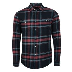 Edwin Labour Shirt Heavy Twill Flannel Oxblood Red