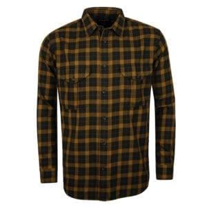 Filson Lightweight Alaskan Guide Shirt Black / Mustard