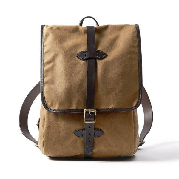Filson Tin Cloth Backpack Dark Tan