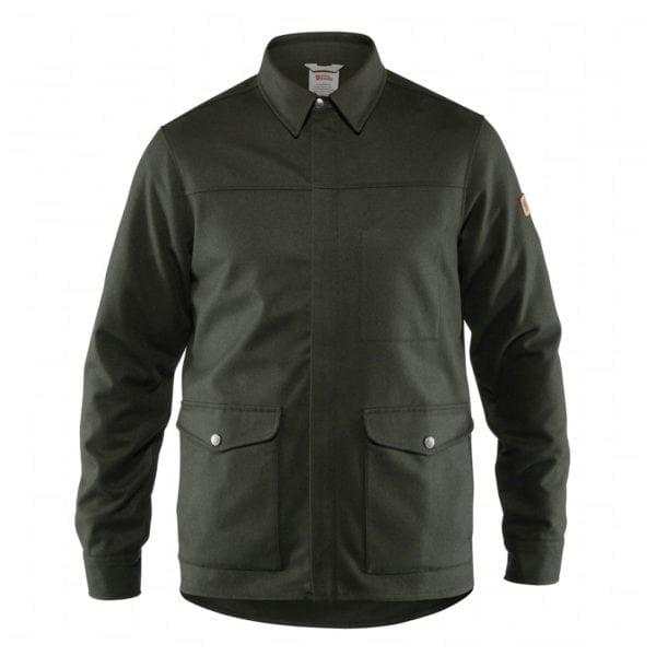 Fjallraven Greenland Re-Wool Shirt Jacket Deep Forest