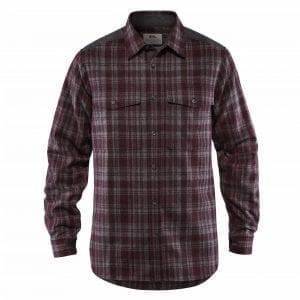 Fjallraven Ovik Re-Wool Shirt Dark Garnet/Dark Grey