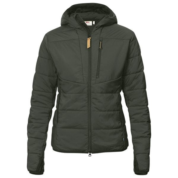 Fjallraven Womens Keb Padded Hoodie Deep Forest