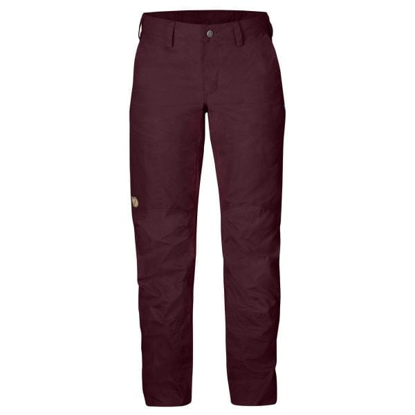 Fjallraven Womens Nilla Trousers Dark Garnet