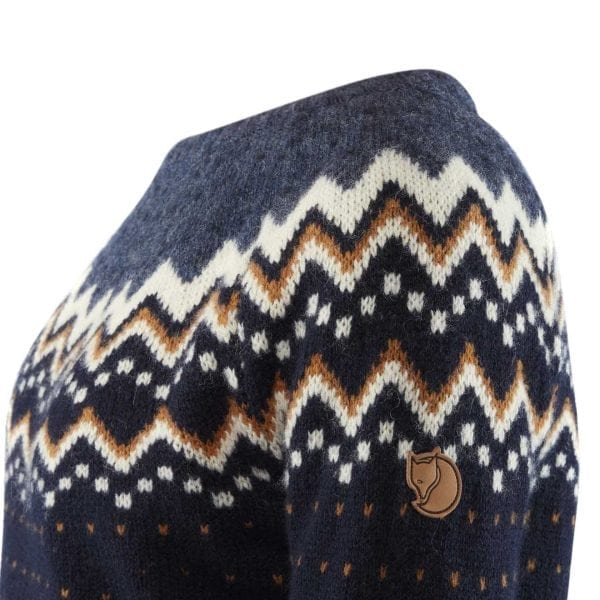 Fjallraven Womens Ovik Knit Sweater Dark Navy