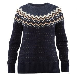 Fjallraven Womens Ovik Knit Sweater Dark Navy