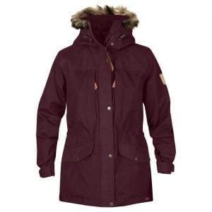 Fjallraven Womens Singi Winter Jacket Dark Garnet