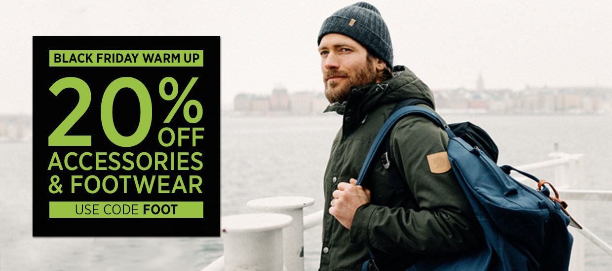 20% off Accessories & Footwear - BLACK FRIDAY WARM UP