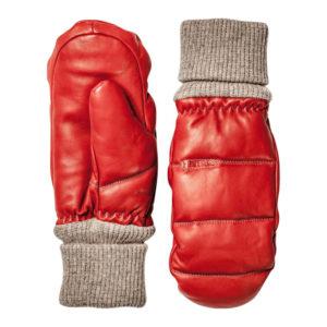 Hestra Leather Voss Mitt Red