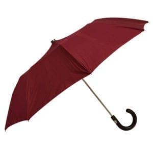 James Purdey Audley Mini Umbrella Maple Red