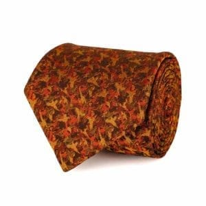 James Purdey Camoflage Birds Tie Rust