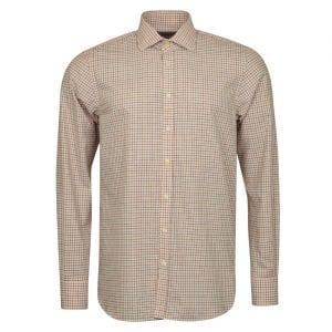 James Purdey Close Tattersall Shirt Rust