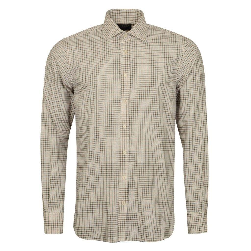 James Purdey Close Tattersall Shirt Teal