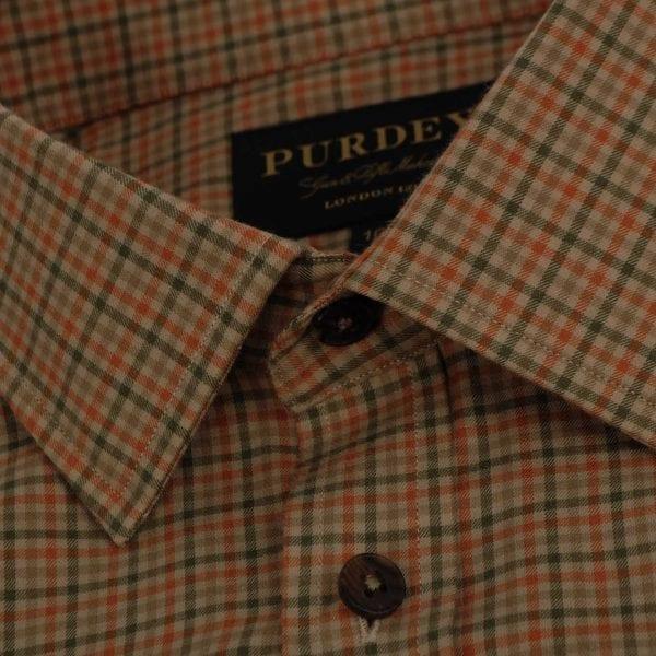 James Purdey Cotton Grouse Shirt Moss