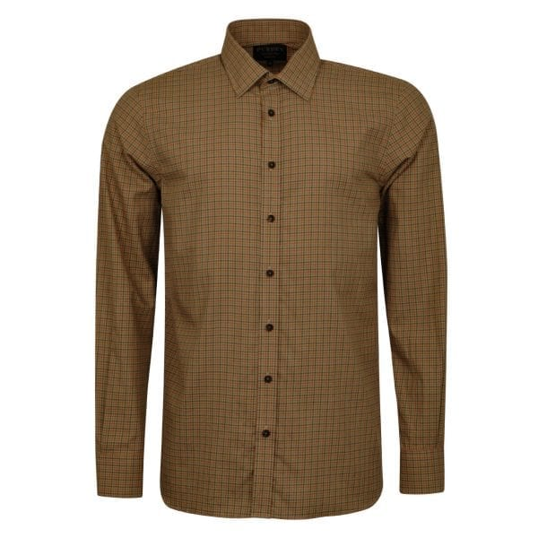 James Purdey Cotton Grouse Shirt Moss