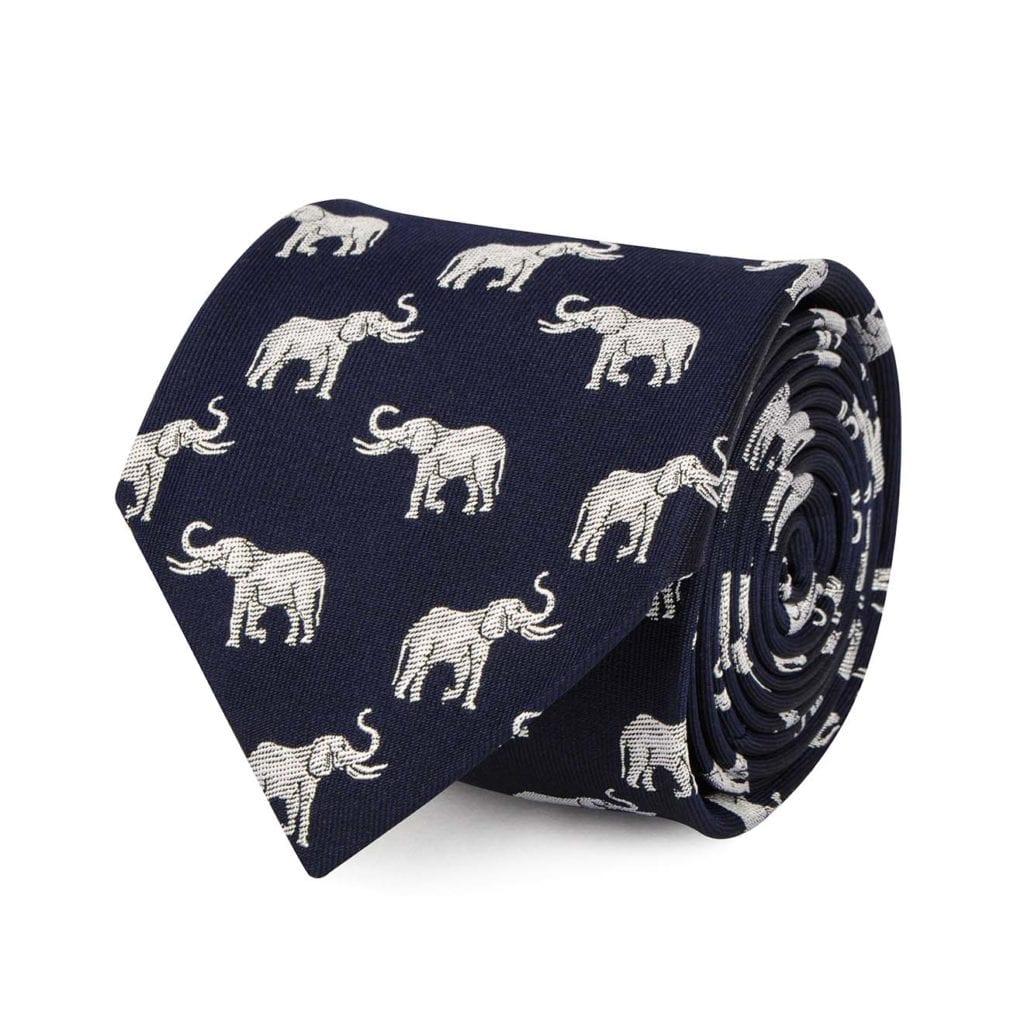 James Purdey Elephant Tie Silver