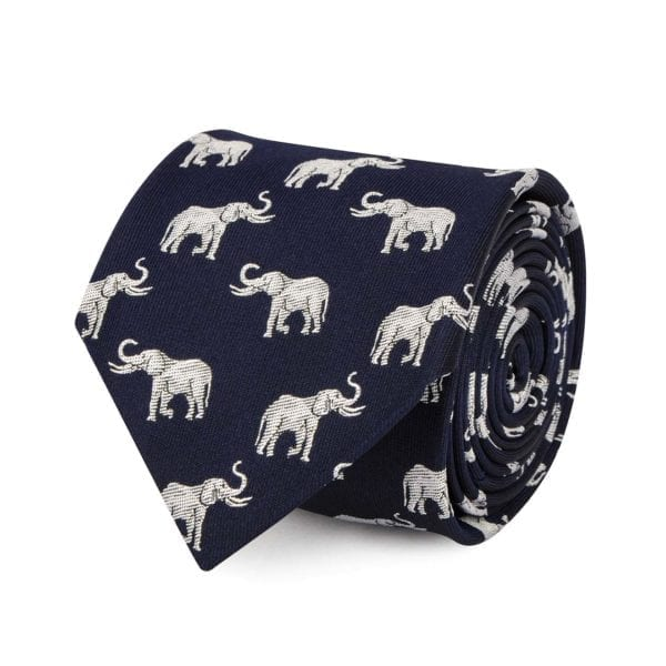 James Purdey Elephant Tie Silver