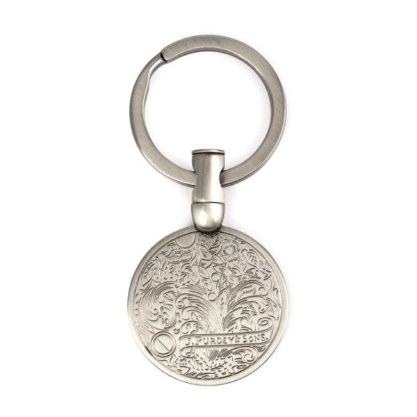 James Purdey Keyring Bullet Gunscroll Silver