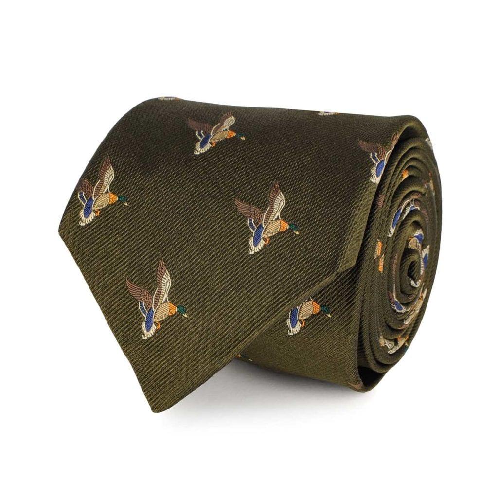 James Purdey Landing Duck Tie Khaki