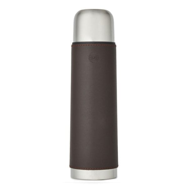 James Purdey Leather Covered Thermos Flask Brown