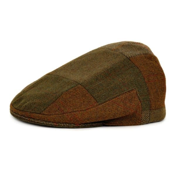 James Purdey Short Peek Patchwork Tweed Cap Multi